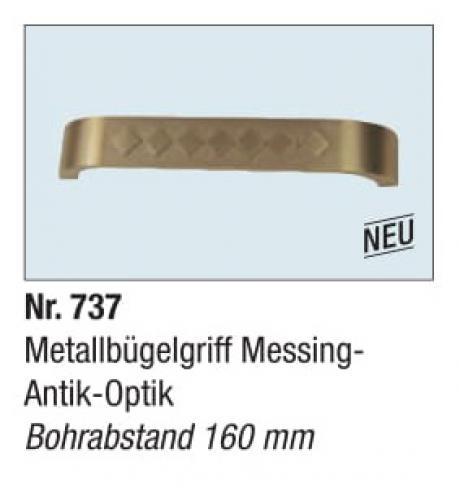Metallbugel Messing Antik Optik