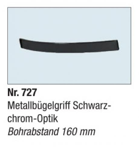 Metallbugelgriff Schwarz chrom Optik