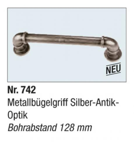Metallbugelgriff Silber Antik Optik
