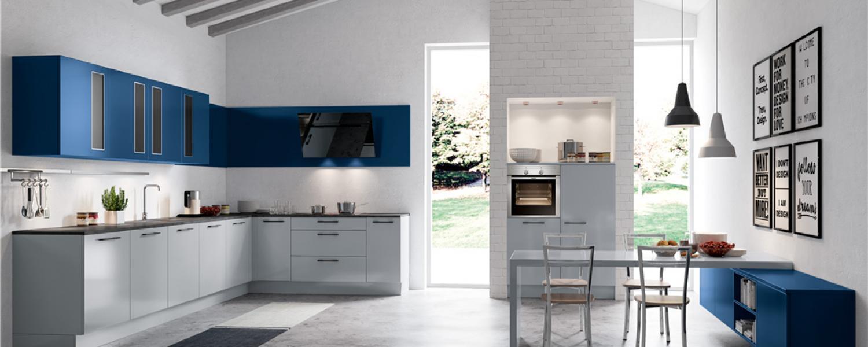 Grau- Und Blau Hochglanz » Ihr Küchenpartner Holger Baake