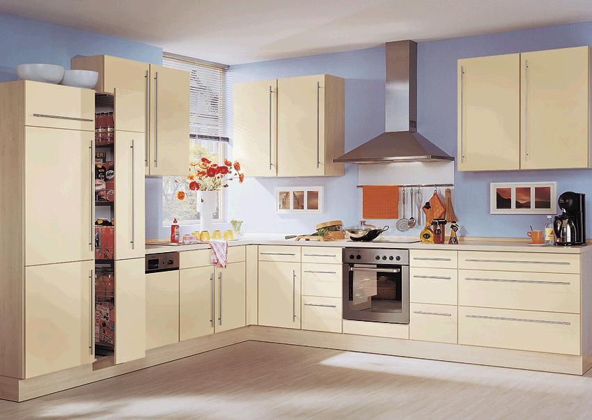 wellmann einbauk che in magnolienweiss matt lackiert ebay. Black Bedroom Furniture Sets. Home Design Ideas