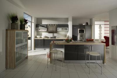 anthrazit metallic k che die neuesten innenarchitekturideen. Black Bedroom Furniture Sets. Home Design Ideas